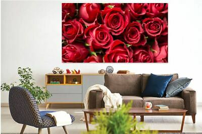 lots-of-red-roses- BEAUTIFUL  high quality Canvas painting  Home decor