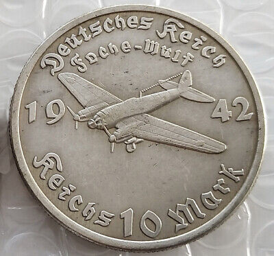 Free Coins! 1942 Hitler / Germany 10 Reichsmark Exonumia Coin #22