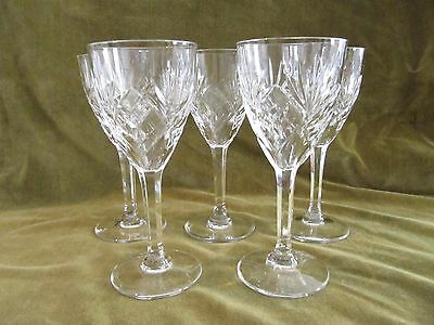 5 verres à vin blanc 10cl cristal Saint Louis Chantilly crystal wine glasses