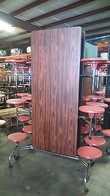 Incredible Refurbished Cafeteria Folding Lunch Table W 16 Stool Machost Co Dining Chair Design Ideas Machostcouk