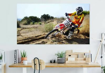 LOVELY motocross-rider- BEAUTIFUL  high quality Canvas painting  Home decor