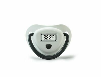 Cherub Baby Digital Dummy Thermometer, White, Black