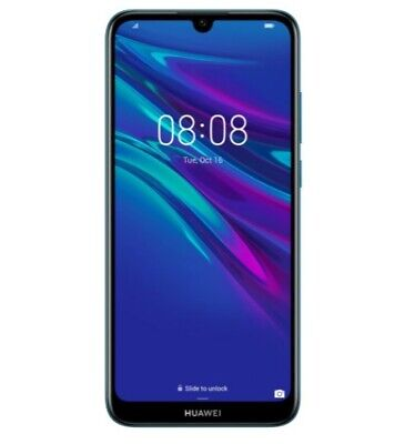 "Huawei Y6 2019 32GB 6.09"" Smart Phone Android Cellphone Blue Unlocked Dual SIM"