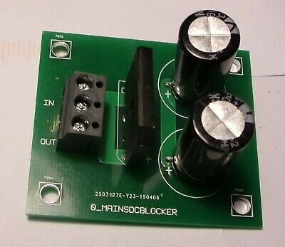 Mains DC blocker for toroidal transformers.