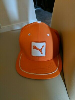 ea66c983ed2 PUMA TOUR FADE Cap White Vibrant Orange S M -  4.99