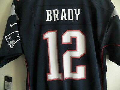 5da4a29a New England Patriots TOM BRADY Youth Medium NIKE On Field NFL 12 Football  Jersey