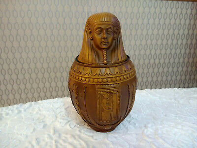 Egyptian Pharaoh Collectable Resin Figurine Storage Box Container