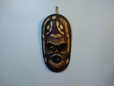 Wall Hanging Hand Made Carved Wood Tribal Mask Room Decoration