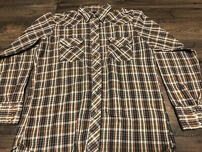 168dcfaa Vintage Sears Western Wear Long Sleeve Button Down Shirt Size Large 16/16-1