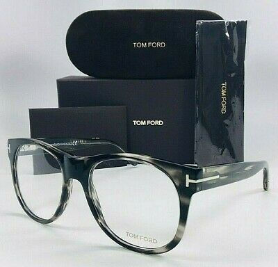 2f54ab2513 TOM FORD TF 5314 020 Black Stripped Horn   Demo Lens 55mm Eyeglasses ...