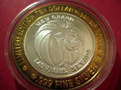 "Mgm Grand -""Efx Michael Crawford"" Casino Silver Strike Ten $ Coin-Las Vegas, Nv."