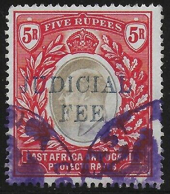 British East Africa | BEA | KUT 1905 KEVII Judicial Fee Revenue 5R Fine Used