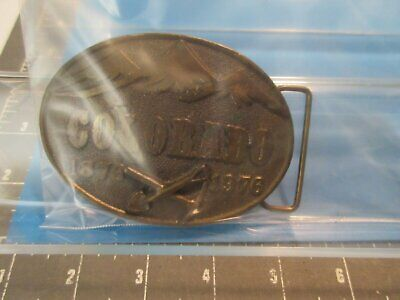 Collect:vintage-1976- State Of Colorado Centennial Brass Belt Buckle (1876-1976)
