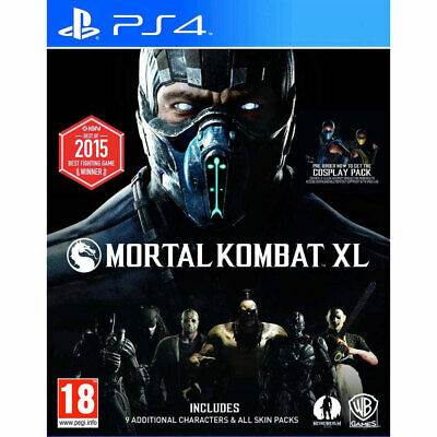 Mortal Kombat XL (PS4) inc 9 Extra Characters & All Skin Packs - New and Sealed
