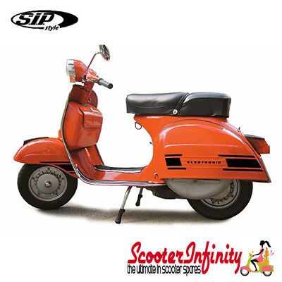 Sticker Set Trim Decoration (Electronic, Black) (Vespa Rally 200)