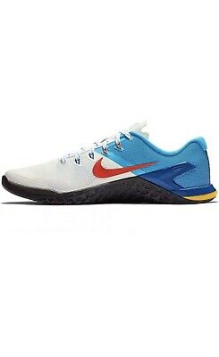 best value 9cb1d 7d47d Nike Metcon 4 Mens Size 12.5 Training Weightlifting Shoes White Blue AH7453  184