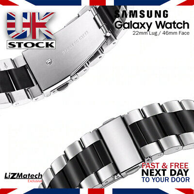 Samsung Galaxy Watch Large 46MM(22mm) Strap / Stainless Steel Band / Bracelet