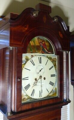 "Antique Mahogany Automation Dial "" Warrington "" Longcase / Grandfather Clock"