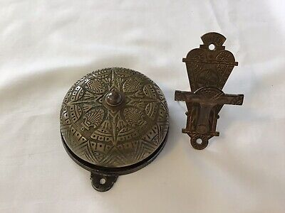 Vintage Mechanical Victorian Door Bell Antique Brass Doorbell