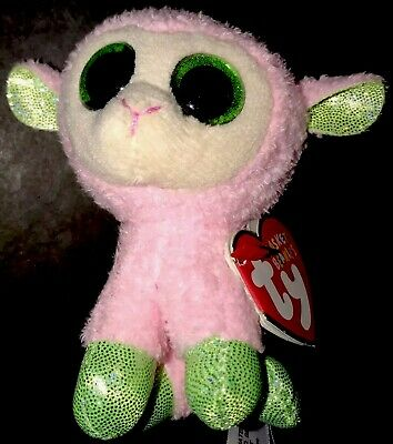 bad0150d595 TY Babs Easter Basket Beanie Boo Pink Lamb 3.5