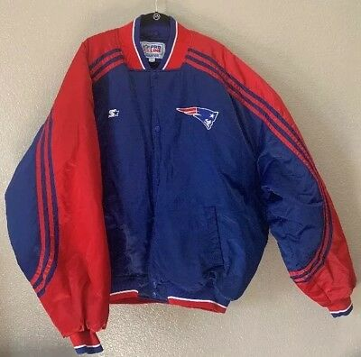 newest collection 6563a 996a6 PRE OWNED 2XL Vintage New England Patriots Starter Jacket satin jacket