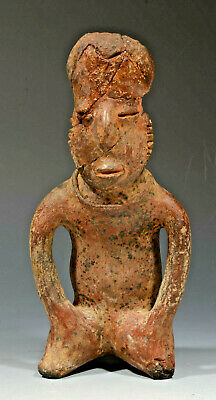 Pre Columbian Mexico Mexican Colima Culture Pottery Seated Man ca. 200BC-200AD