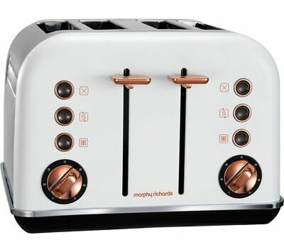 MORPHY RICHARDS Accents 242106 4-Slice Toaster - White & Rose Gold