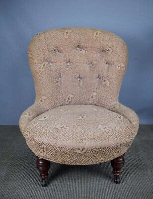Antique Victorian Button Back Nursing Chair - suitable for Recovering