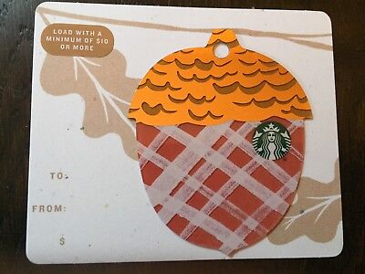 "Canada Series Starbucks ""2018 MINI ACORN - RED"" Gift Card - New No Value"