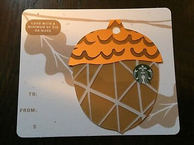 "Canada Series Starbucks ""2018 MINI ACORN - BROWN"" Gift Card - New No Value"