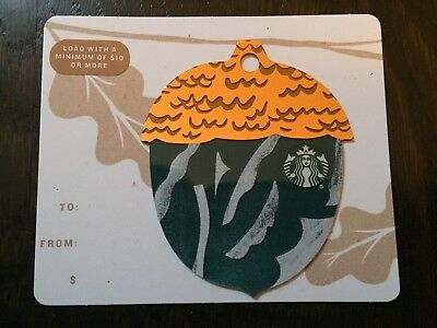 "Canada Series Starbucks ""2018 MINI ACORN - DARK BLUE"" Gift Card - New No Value"