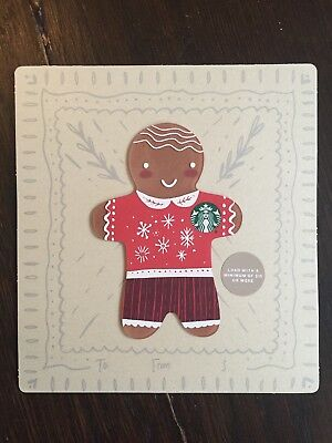 "Canada Series Starbucks ""MINI GINGERBREAD DIE CUT 2018"" Gift Card - New No Value"