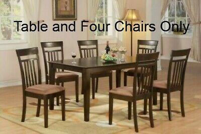 Superb East West Furniture Cap5S Cap C 5 Pc Formal Dining Room Set Gmtry Best Dining Table And Chair Ideas Images Gmtryco