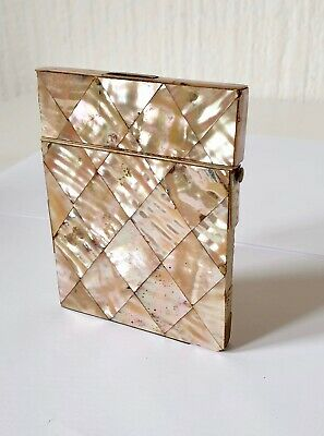 Antique Victorian Mother Of Pearl Card Case For Restoration