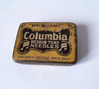 Vintage 1940'S 'Columbia Medium Tone Needles' Tin