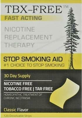 TBX FREE Stop Smoking Oral Strip Aid 120 Strips Classic Quit Smoking Aid