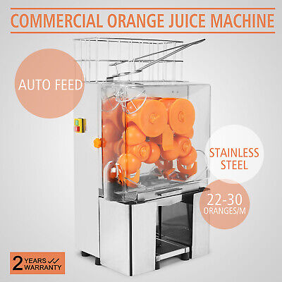 Electric Commercial Orange Juicer Squeezer Fruit Dispenser 20-30 Oranges/min