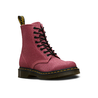 c239daf73df7 NEW WOMENS DR MARTENS PURPLE PINK 1460 PASCAL GLITTER SYNTHETIC ...