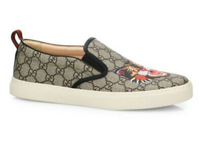 ad2017cf892 100% authentic GUCCI GG Supreme Angry Cat Slip-On Sneakers sz 12G (13US