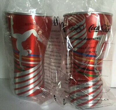 2731151a7468 Mcdonalds Coca Cola Olympic Worldwide Partners Metal Souvenir Cups - Set Of  2