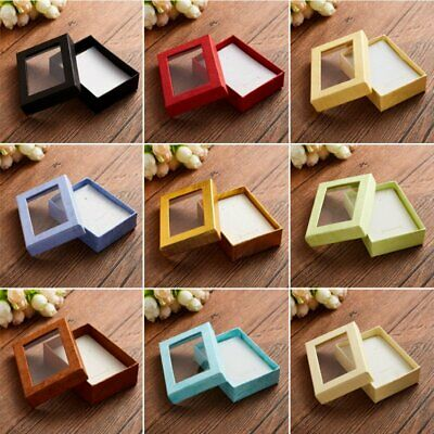 Square Cotton Filled Color Gift Boxes Jewelry Cardboard Box For Earring Necklace
