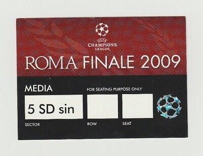 Orig.Ticket  Champions League 2008/09  FINAL  FC BARCELONA - MANCHESTER UNITED !