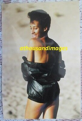 1980s Vtg Photo/Sexy Nude Black Woman Covering Herself With A Jacket T95