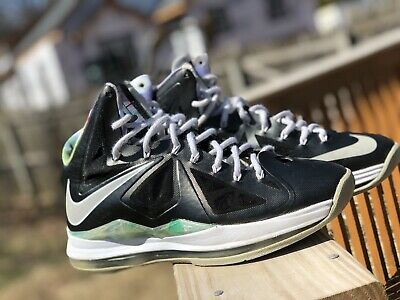 aa0ff32c8353 2012 Nike Air Max LEBRON X 10 PRISM BLACK STRATA GREY WHITE BLUE 541100-004