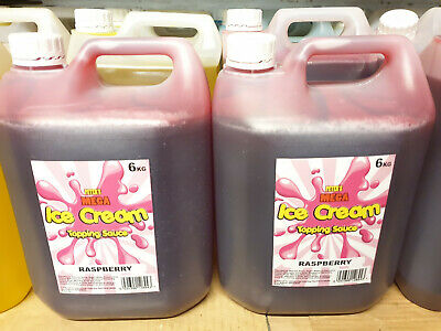 2 X 6Kg Bottle Topping Syrup - Ice Cream Van Sauce Mr Whippy -New Sealed -