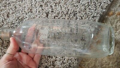 Vintage Large Medicine Bottle Dr. Peter Fahrney & sons. Chicago IL