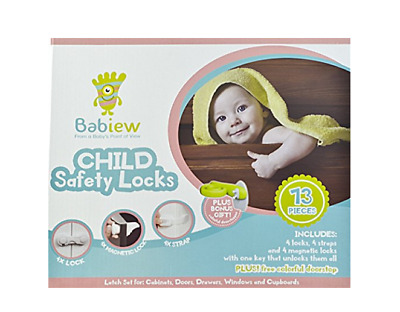 Babiew Child Safety Locks Kit - Baby Proofing Multifunctional Latches