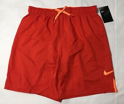 """Nike 7"""" Volley Men's Swim Shorts NESS 8432 Red M  L XL NWT"""