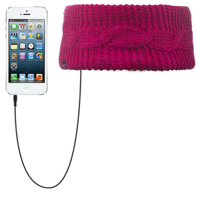 e914bbfb40c Kitsound Audio Headband Pink Cable Knit Built In Speaker Headphones New In  Pack