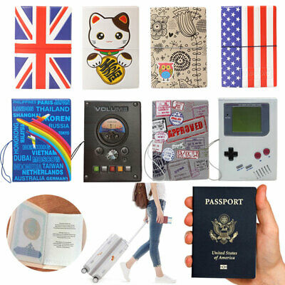 National Flag Protector Identity Cover Passport Holders Vintage Travel Id Card